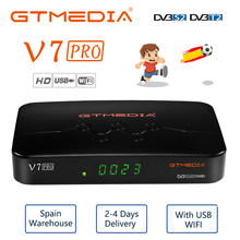 H.265 10Bit In Italien GTMEDIA V7 Pro Satellite TV Empfänger FHD DVB-S2 DVB-T2 Combo Youtube T2MI CCAM Unterstützung Europa Cline CA Karte