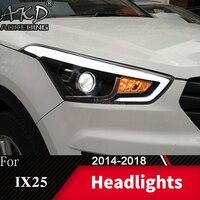 Head Lamp For Car Hyundai Creta 2014 2018 New IX25 Headlights Fog Light Day Running Light DRL H7 LED Bi Xenon Bulb Car Accessory