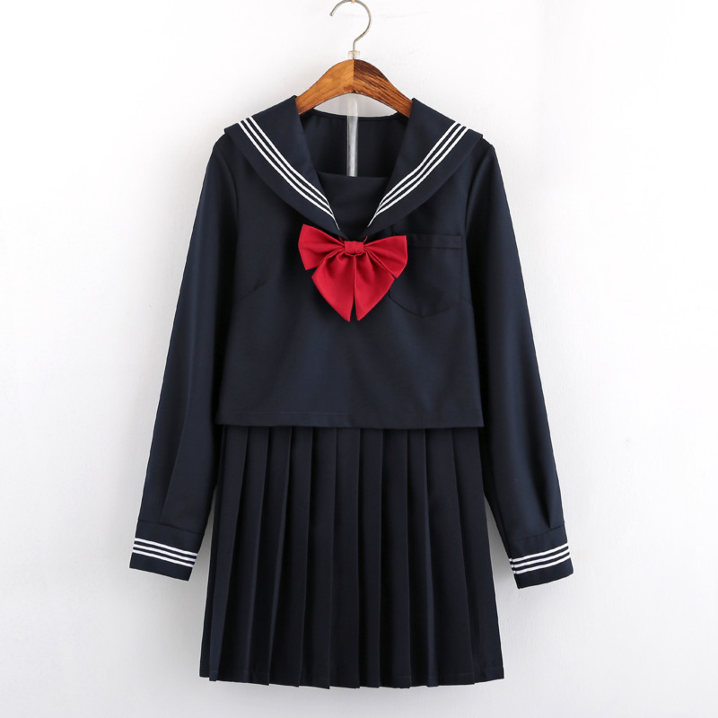 JK Graduation Gown Sexy Comic Cosplay Sailor Suit Kids Costume Blue Kawai High School Student Uniform Set Harajuku Pleated Skirt