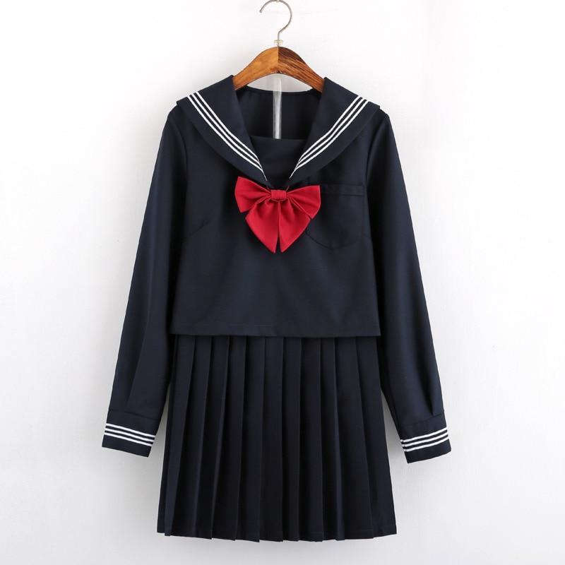JK Graduation Gown Sexy Comic Cosplay Sailor Suit Kids Costume Blue Kawai High School Student Uniform Set Harajuku Pleated Skirt