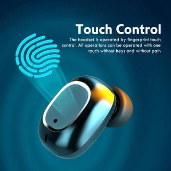 TWS Wireless Bluetooth Headphones HD Mirror Screen LED Display Earphones with 3500mAh Charging Box 9D HIFI Stereo Earbud Headset 3