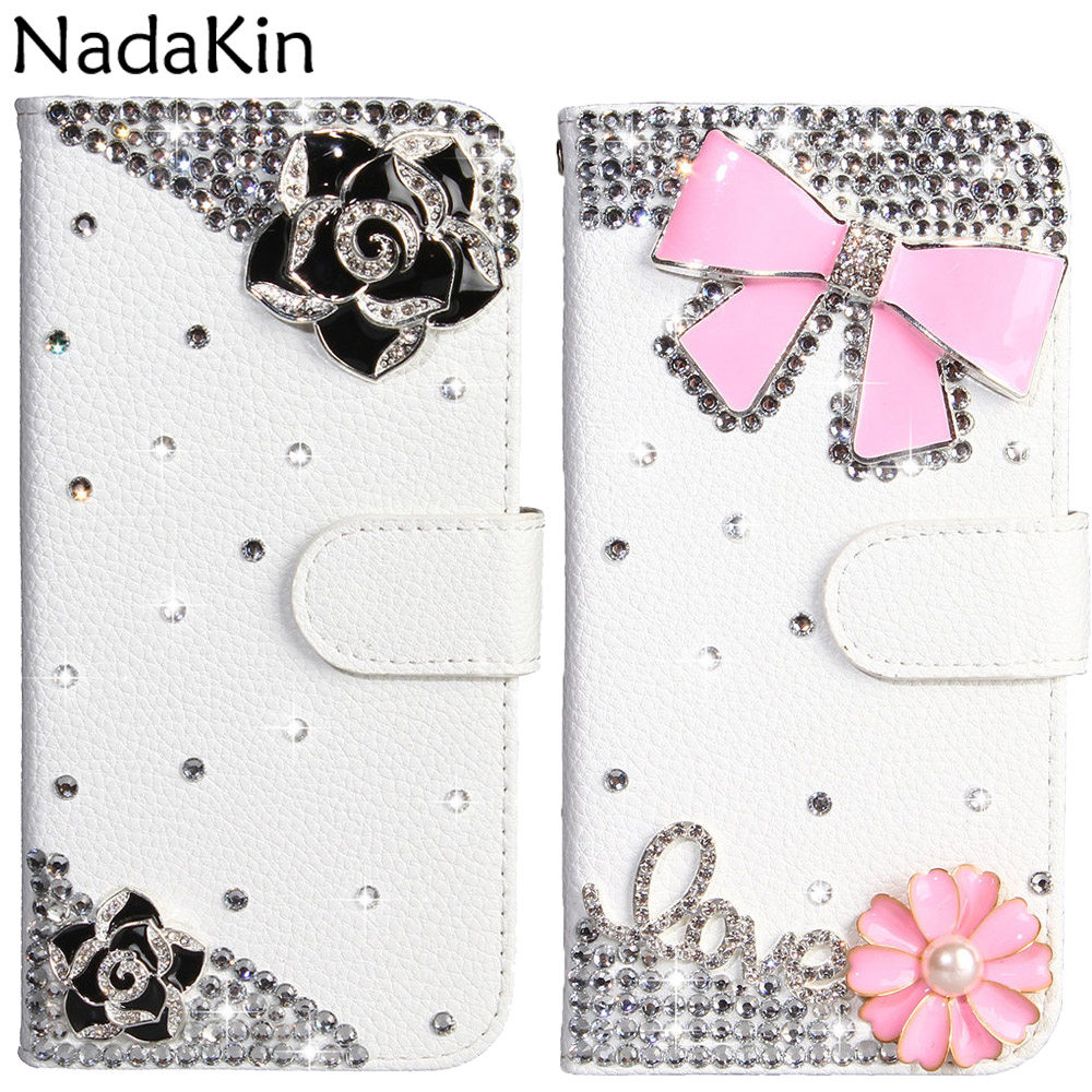 Luxury <font><b>Rhinestone</b></font> Book Shell <font><b>Case</b></font> for <font><b>Huawei</b></font> Honor <font><b>20</b></font> Lite 8A 8X 8S 7A <font><b>Pro</b></font> 7C 7S Y5 Y6 Prime Y7 Y9 2018 2019 Flip Leather Cover image