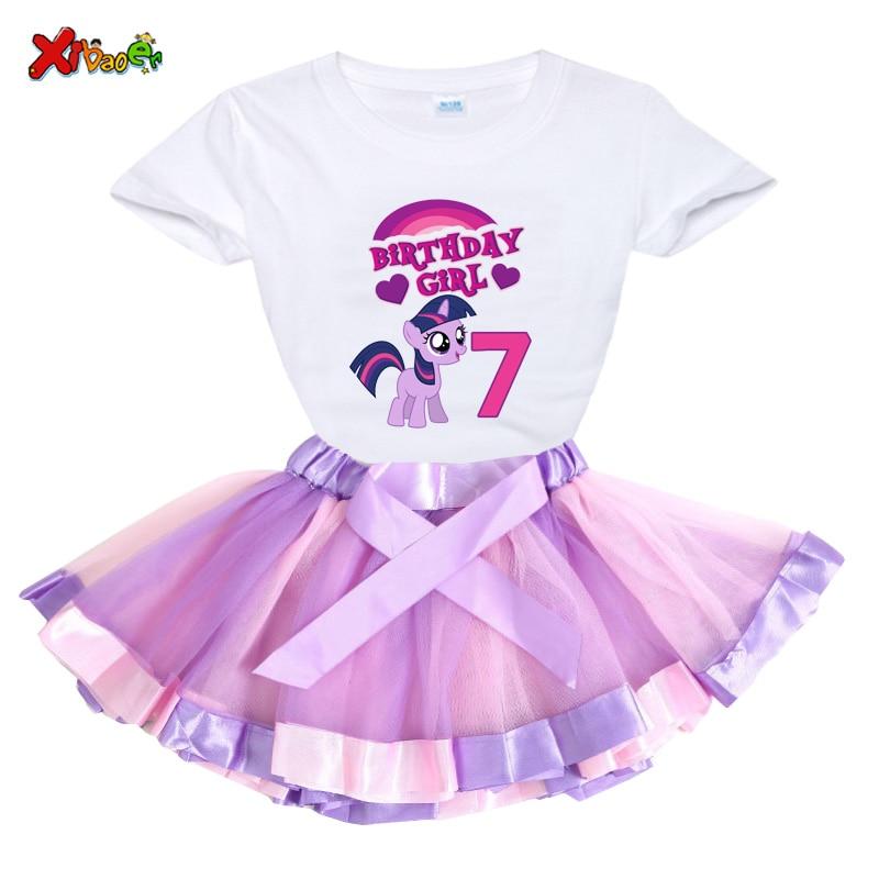 Xmas Girls Birthday Outfits Dresses Birthday Party Romper+t Shirt Tutu Dress 2 Pcs Suit Kids Personalized Custom Birthday Gifts
