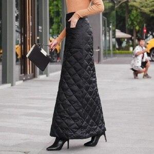 Image 4 - สีดำผ้าฝ้ายพลัสขนาดVintage 2020 สูงเอวเสื้อผ้าฤดูใบไม้ร่วงฤดูหนาวCasual Maxiยาวกระโปรงผู้หญิงกระโปรงผู้หญิงStreetwear