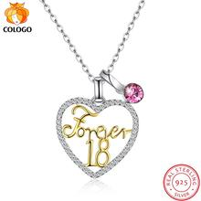 COLOGO 925 Sterling Silver Dazzling crystal Love Heart Dangle Multiple ways of wearing Necklace For Women Jewelry Gifts LKN0056 crystal stovall gifts of love