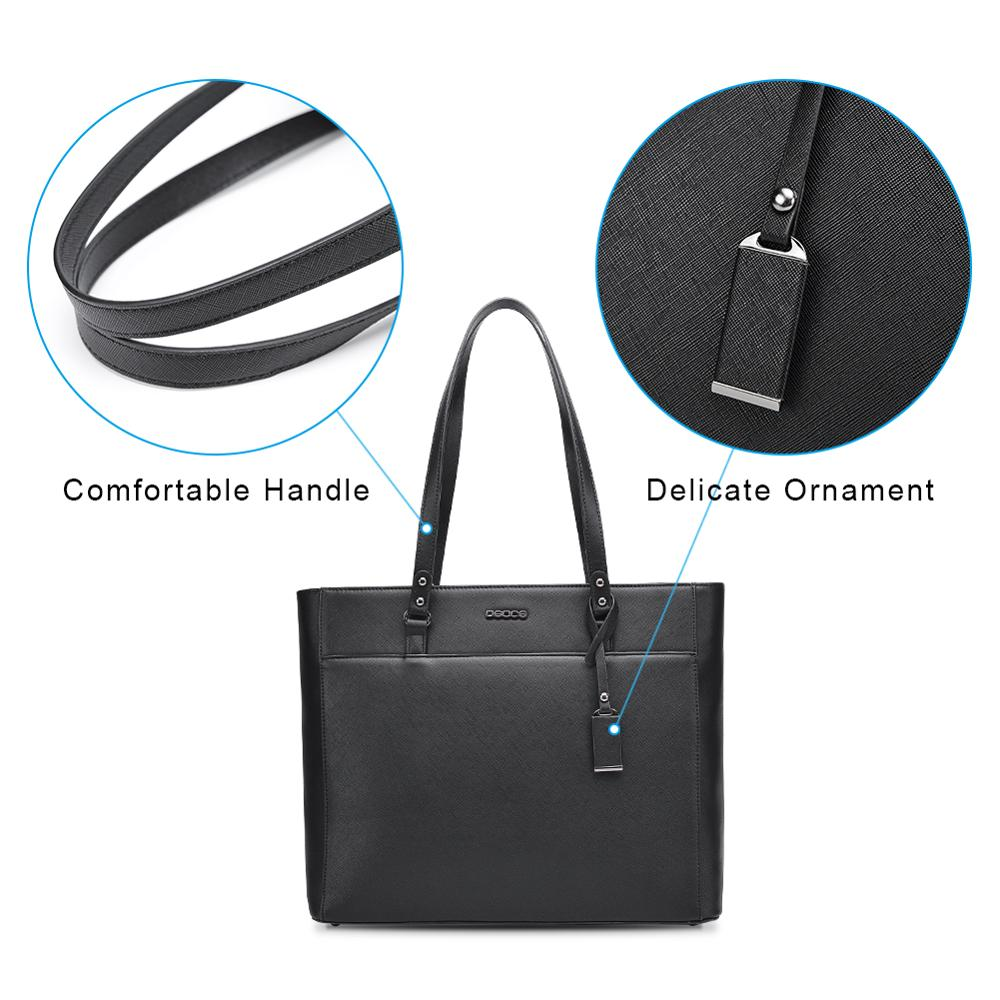 Image 3 - OSOCE laptop bag for women 15.6  briefcase  Waterproof Handbag  Laptop Tote Case luxury Shoulder Bag Office Bags for  notebookBriefcases
