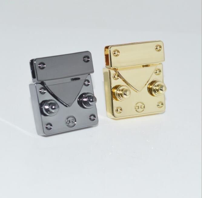 (10 Pcs/lot) Luggage Handbag Hardware Accessories High-grade Custom Zinc Alloy Twist Lock