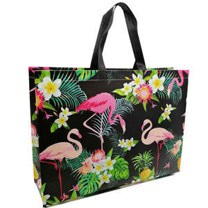 Folding Bag Pouch Storage-Bags Non-Woven-Fabric Eco Flamingo-Printing Travel Large Reusable