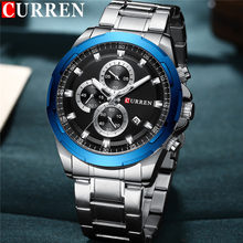 CURREN Man WristWatch Waterproof Chronograph Sport Men Watch Military Army Top Brand Luxury Stainless Steel New Male Clock 8354(China)