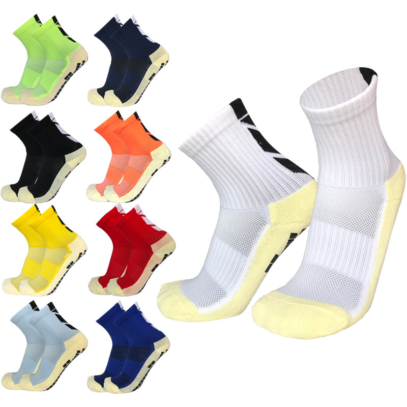 Anti-slip Plantar Rubber Block Soccer Socks Men Outdoor Sport Socks Heel Arrow Shape Football Socks For Women