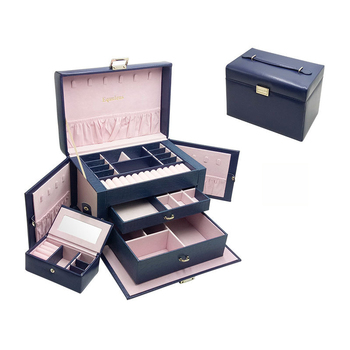 New Large Leather Jewelry Box Gift Box for Jewelry Packaging Display Women Makeup Case Luxury
