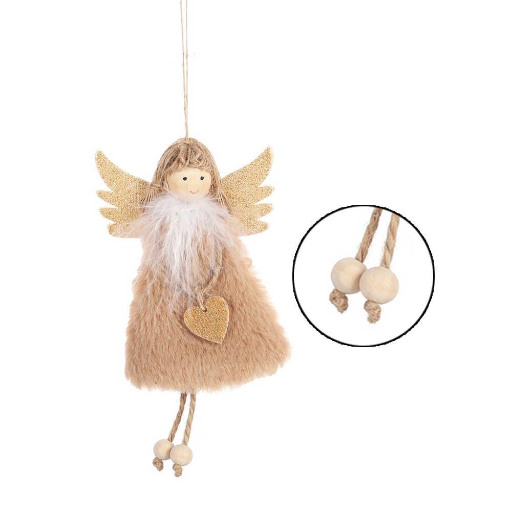 Новый дизайн Рождественский плюшевый Ангел Шарм Подвеска Дерево Висячие украшения детские подарки новый год дома милые куклы любви украшения