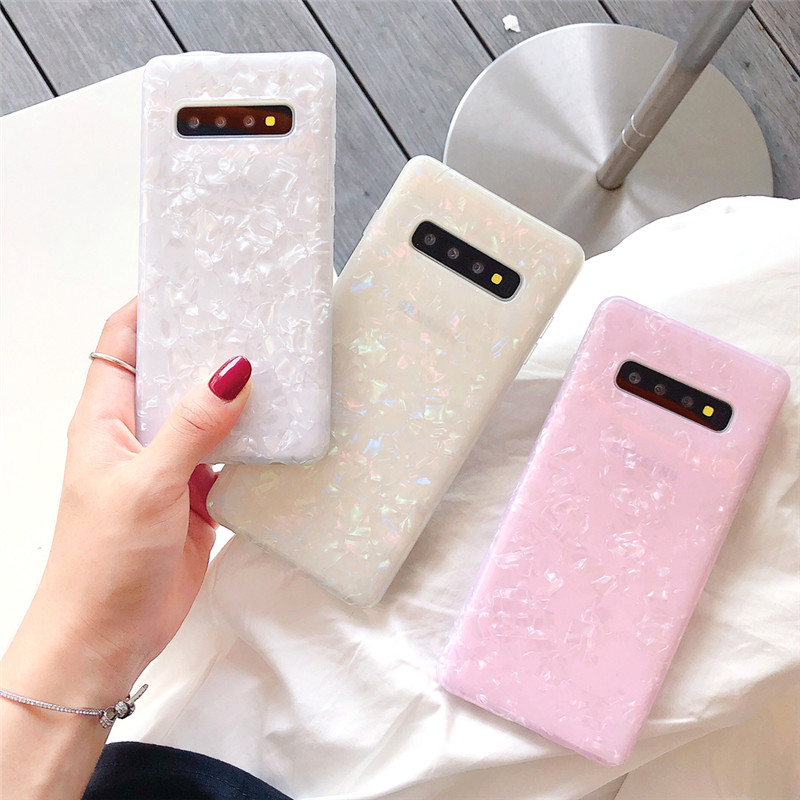 Conch Shell TPU Phone Case For Samsung Galaxy Note10 Note 10 Plus S10 Plus Fashion Pink Colors Soft Cases Cover