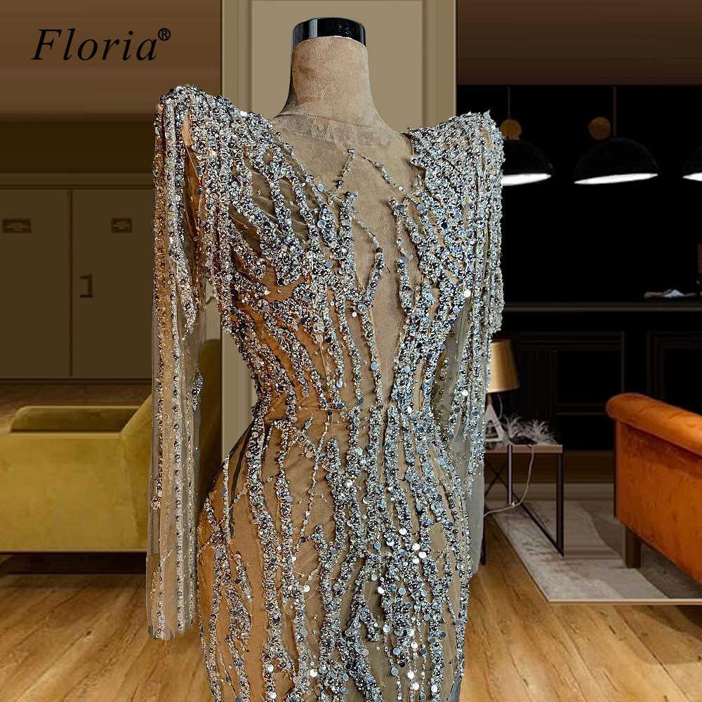 فستان سهرة بكريستال جديد طويل عربي كوتور رسمي للحفلات الراقصة دبي مثير Abiye فساتين نسائية Abendkleider