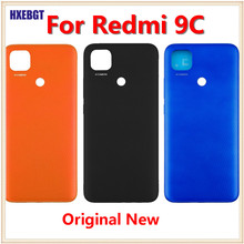 Original For Xiaomi Redmi 9C  Back Cover Shell Red mi 9C NFC Real Battery Cover Housing Door Case Smartphone Repair Parts