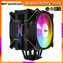 Кулер для процессора Darkflash с 4 тепловыми трубками, тихий ШИМ-радиатор, 4 контакта, 250 Вт, для Intel LGA 1150, 1151, 1155, 1200, 1366, 2011, AM4, вентилятор