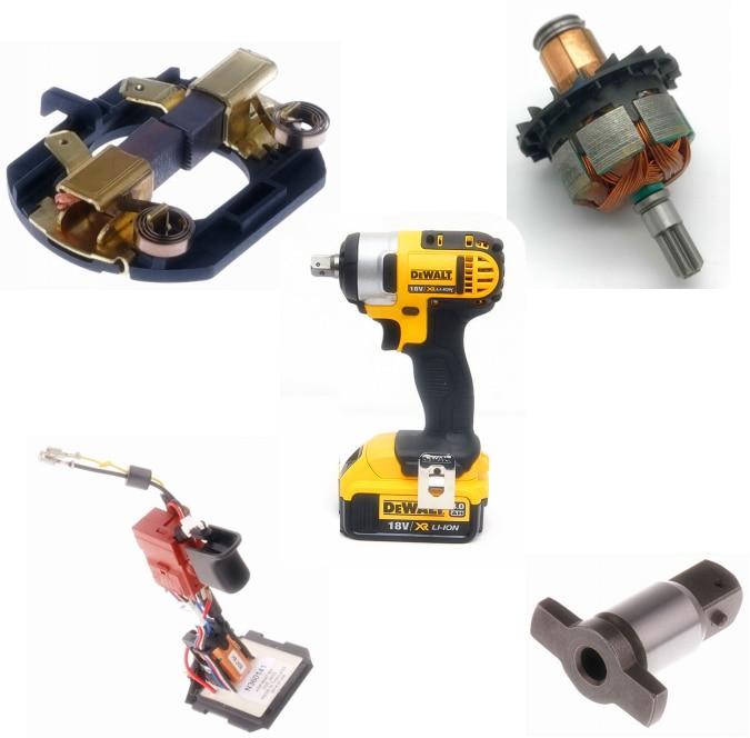 Carbon Brush Holder Armature Rotor Switch Trigger Anvil For DEWALT DCF880 DCF880M2 DCF880HM2 DCF883B DCF883L2 DCF880B Wrench