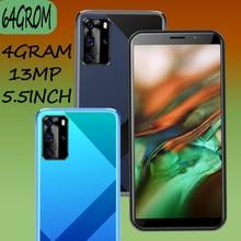 Smartphones 8c android celular 4g ram 64g rom face id desbloqueado 5.5 polegada tela telefones celulares 13mp hd sim duplo wifi