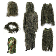 Woodland Camouflage Sniper Suits Ghillie-Suit Shooting Tactical Aerial Secretive