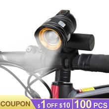 15000LM T6 USB Rechargeable Bicycle Lights Rear Light Zoom Adjustable Bike Front Light Front Bike Headlight Lamp Rear Lantern usb rechargeable 15000lm xml t6 led bike front light bicycle headlamp headlight