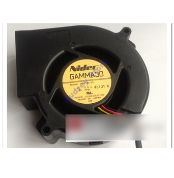 Nidec 9733 A34124-33 DC12V 0.65A 7.8W 3 wires Turbo air blower double ball bearing FAN image