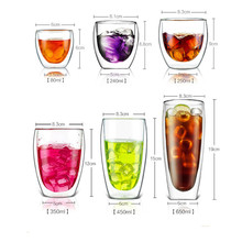 Double Layers High Borosilicate Glass Cup Egg Shape Heat Resistant Coffee Mug Transparent Insulated Beer Juice Whisky