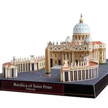 Basilica Di San Pietro In Vatican Folding Cutting Mini 3D Paper Model House Papercraft DIY Adult Handmade Craft Toys QD-168