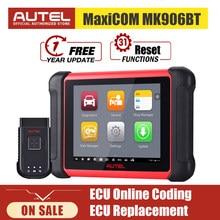 Autel MaxiCOM MK906BT Diagnostic Scanner Car Diagnosis Automotivo Tools Bluetooth ECU Coding PK MaxiSys MS906BT MS908S MS906
