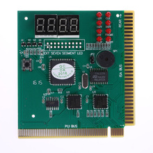 4-Digit LCD Display PC Analyzer Diagnostic Card Motherboard Post Tester for Motherboards with PCI and ISA Bus Slot