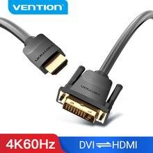 Vention hdmi para dvi cabo bidirecional hdmi macho 24 + 1 DVI-D adaptador macho 1080p conversor para xbox hdtv dvd lcd dvi ao cabo hdmi