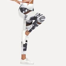 Legginsy damskie legginsy moro wysoka rozciągliwość legginsy legginsy sportowe letnie damskie Casual legginsy z wysokim stanem #25 tanie tanio Women Leggings Kostek STANDARD Suknem Na co dzień Poliester Drukuj