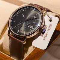 レロジオ Masculino 高級ステンレス鋼表示日付ウィーク防水メンズクォーツ時計ビジネスの男性の腕時計