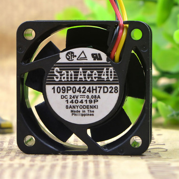 For Sanyo 109P0424H7D28 4015 Cooling Fans P/N: A90L-0001-0441/39 DC24V 0.08A server fan a90l 0001 0536 compatible spindle motor fan for fanuc cnc repair new