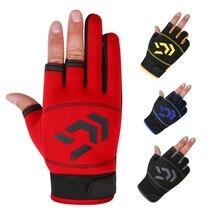 1 Pair Gloves for Fish Men Women Outdoor Fishing Anti-Slip 3-Finger and Half Sports Fishings Equipment Angling SBR Gloves