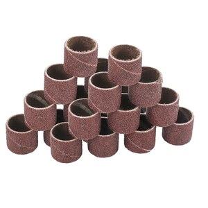 XCAN абразивный диск 1/4 3/8 1/2 дюйма набор шлифовальных барабанов с шлифовальной лентой подходит для вращающегося инструмента Dremel