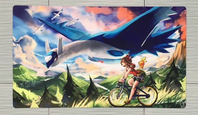 Takara Tomy PTCG Accessories Pokemon Card Board Game Playmat Latios Toys For Children