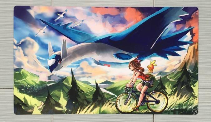 Takara Tomy PTCG Accessories Pokemon Card Board Game Playmat Latios Toys For Children