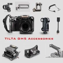 Tilta GH هيكل قفصي الشكل للكاميرا ملحق لباناسونيك LUMIX GH4 GH5 GH5S dslr تلاعب علوي مقبض اللوح HDMI حامل مشابك كابل الطاقة