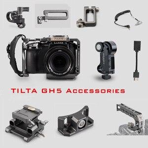Image 1 - Tilta GH هيكل قفصي الشكل للكاميرا ملحق لباناسونيك LUMIX GH4 GH5 GH5S dslr تلاعب علوي مقبض اللوح HDMI حامل مشابك كابل الطاقة