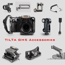 Tilta GH מצלמה כלוב אבזר עבור Panasonic LUMIX GH5 GH5S dslr rig למעלה ידית Baseplate HDMI מהדק בעל כוח כבל