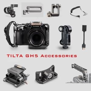 Image 1 - Tilta GH 카메라 케이지 액세서리 Panasonic LUMIX GH5 GH5S dslr rig 탑 핸들베이스 플레이트 HDMI 클램프 홀더 전원 케이블