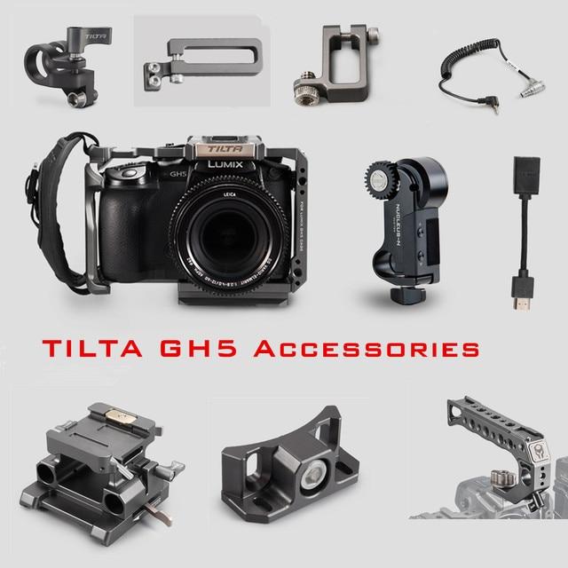 Tilta GH 카메라 케이지 액세서리 Panasonic LUMIX GH5 GH5S dslr rig 탑 핸들베이스 플레이트 HDMI 클램프 홀더 전원 케이블