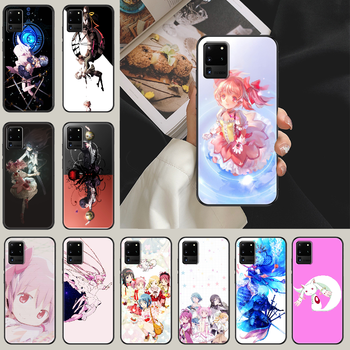 puella magi madoka magica Phone case For Samsung Galaxy Note 4 8 9 10 20 S8 S9 S10 S10E S20 Plus UITRA Ultra black luxury back image