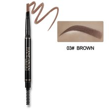 5-color Automatic Rotating Eyebrow Pencil Double-head Waterproof Retractable Smudge-proof