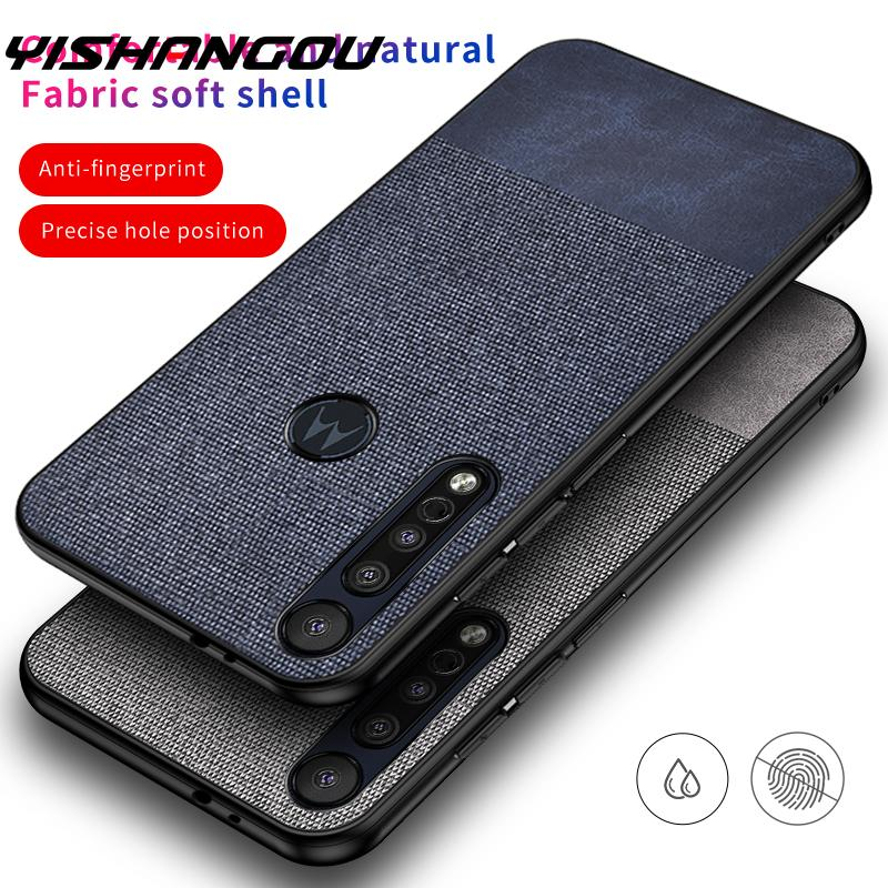Fabric Cloth Skin Hard Cover Case For Motorola Moto G8 Plus Play P40 G7 Power E6 Case Slim Matte Back Protective Phone Cases