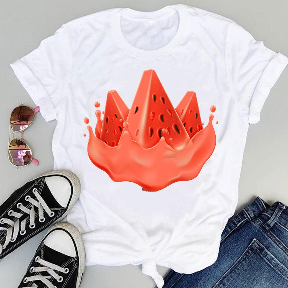 Women 2021 Strawberry Fruit Casual 90s Cartoon Short Sleeve Graphic Summer Fashion Print Female Clothes Tops Tees Tshirt T-Shirt 4