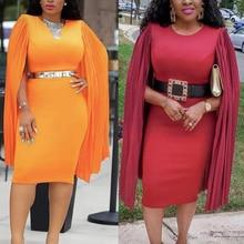 Африканские платья MD с вышивкой для женщин bazin, Роскошное хлопковое платье с длинным рукавом, Дашики, женский халат, кафтан, женские длинные платья, одежда