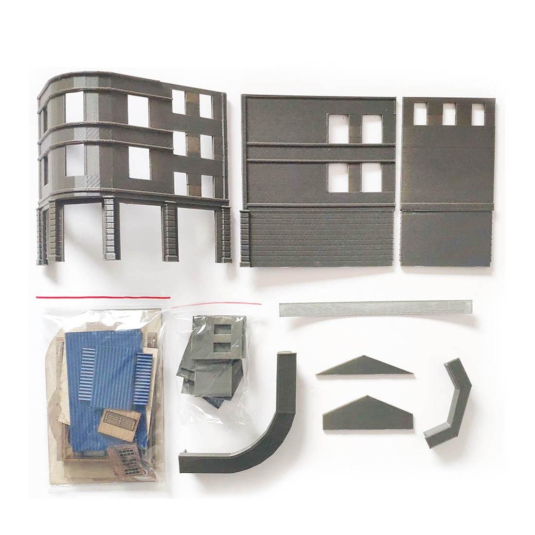 16.5x13.5x9 cm Zand Tafel Railway Trein Scene Hoek Kruidenier Montage Model Building Kit (Geen Cijfers auto's en Andere Gebouwen)