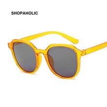 Petites lunettes De soleil carrées rétro jaune pour femmes, mode Vintage, UV400