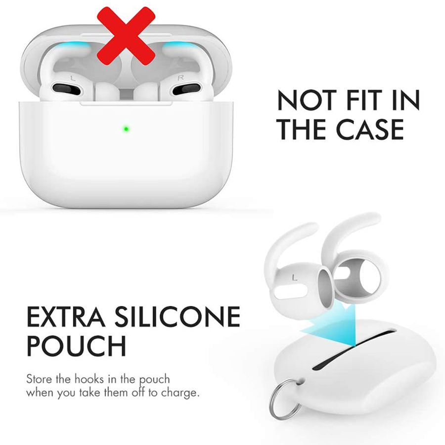lowest price AhaStyle 3 Pairs Ear Hooks for AirPods Pro Anti-Slip Earbuds Covers Tips   Silicone Pouch Accessories for Apple AirPods Pro